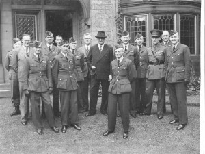 "208 Squadron. Robert Blackburn, Officers and Civilian Instructors ""Tudor House"" Sept. 1943"