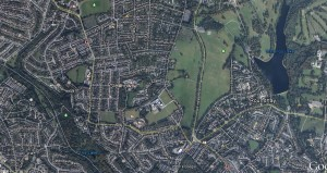 Roundhay Park and the area around it