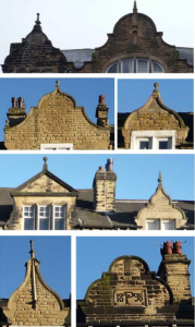Fig. 3. Some ornate gables on the Oakwood Parade