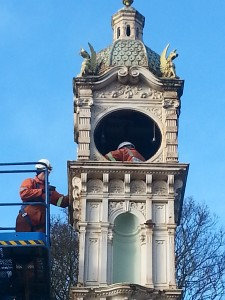 Clock face removed